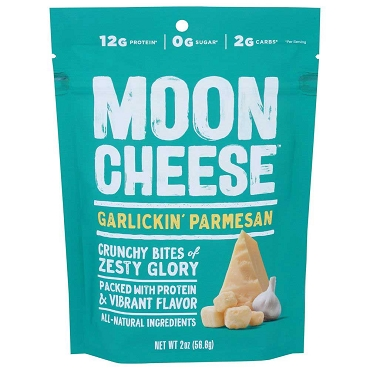 Moon Cheese Garlick'in Parmesan, 2 oz Pouches, Case of 12 Pouches